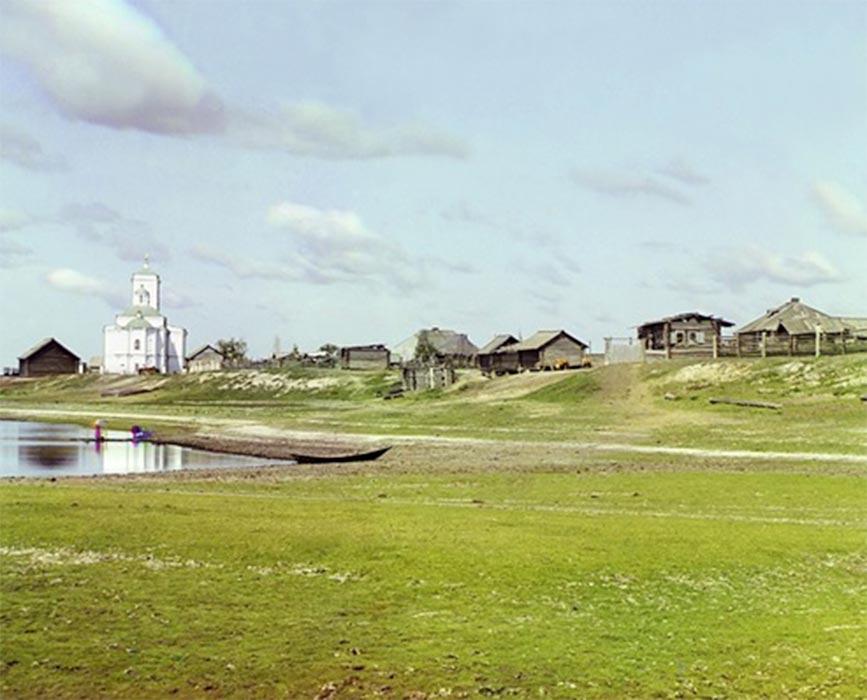 Pokrovskoe in 1912 (Public Domain)