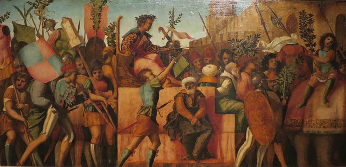 The Triumph of Caesar by Jacopo Palma il Vecchio. (c. 1510) Lowe Art Museum. (Public Domain)