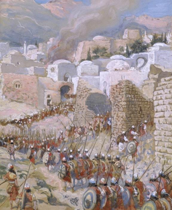 The Taking of Jericho by James Jacques Joseph Tissot (c. 1896-1902) (Public Domain)