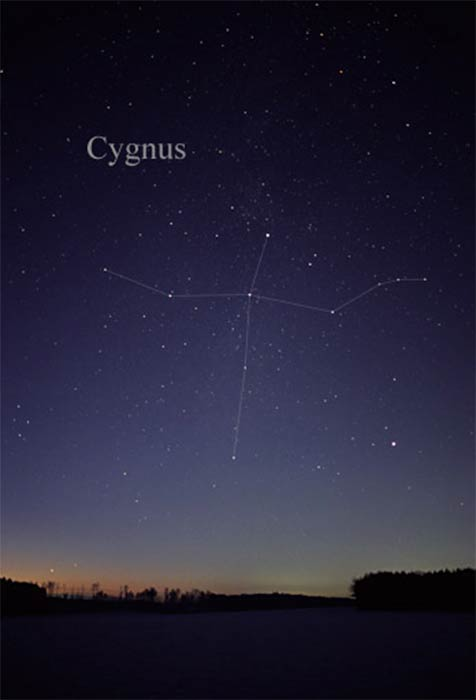 The constellation Cygnus as it can be seen by the naked eye, with the Northern Cross in the middle. (Till Credner / CC BY-SA 3.0)