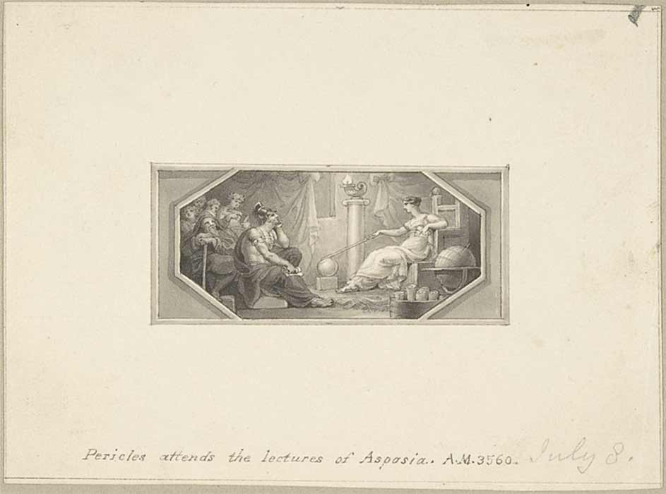 Pericles attends the Lectures of Aspasia by Edward Francis Burney (18 – 19th century)Metropolitan Museum of Art (CC0)