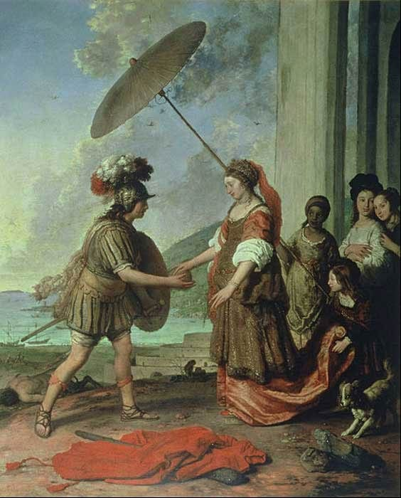 'Ariadne and Theseus' (1657) by Willem Strijcker. ( Public Domain )