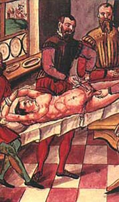 The procedure of castration as punishment during the 16th century.(Public Domain)
