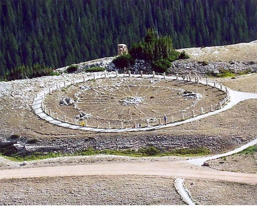 Medicine Wheel, a Native American sacred site and National Historic Landmark in Wyoming (Public Domain)