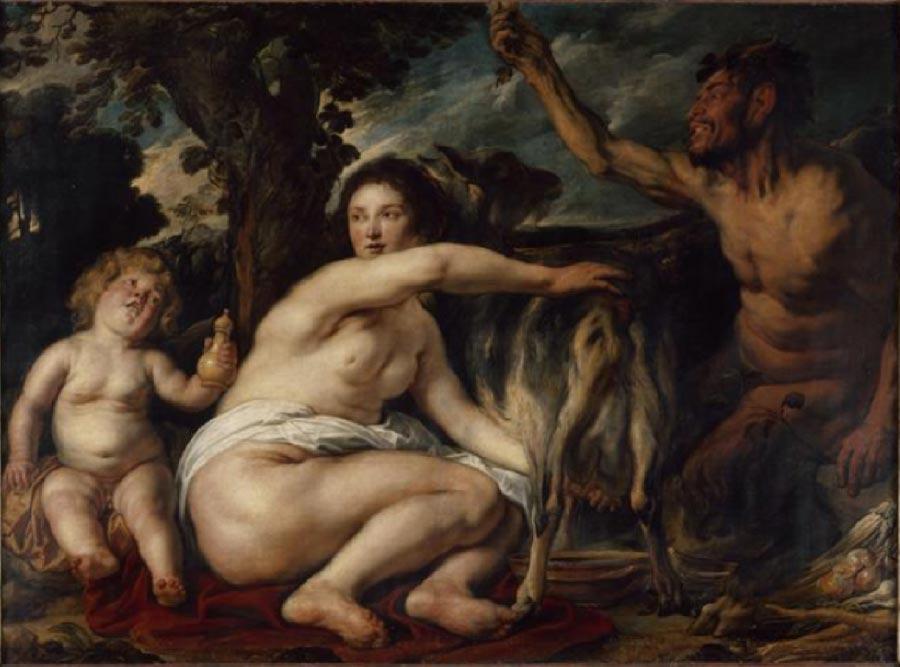 Infancy of Zeus, by Jacob Jordaens, (early 1630s)Louvre Museum (Public Domain)