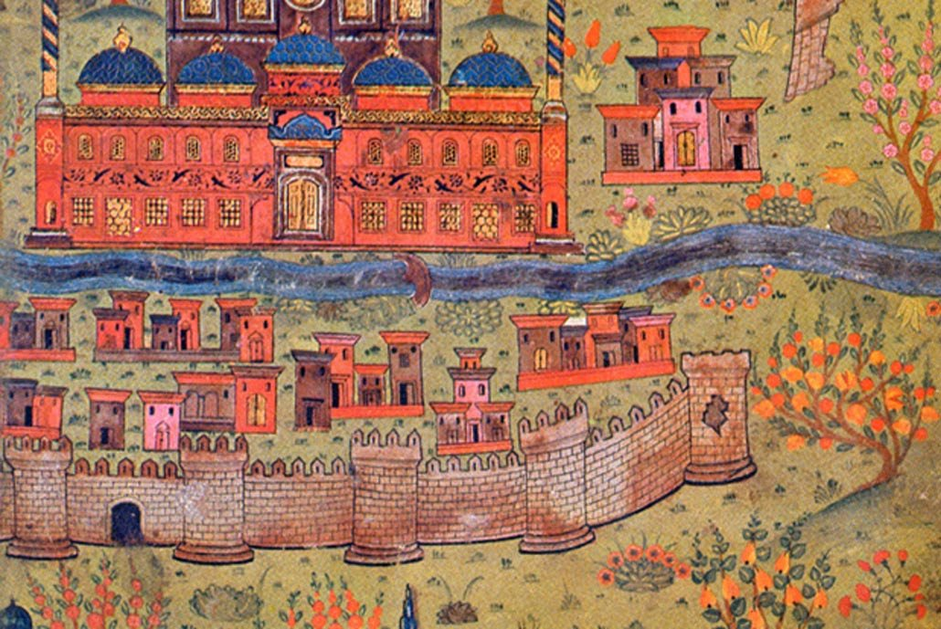 An artistic expression of a city from the One Thousand and One Nights.