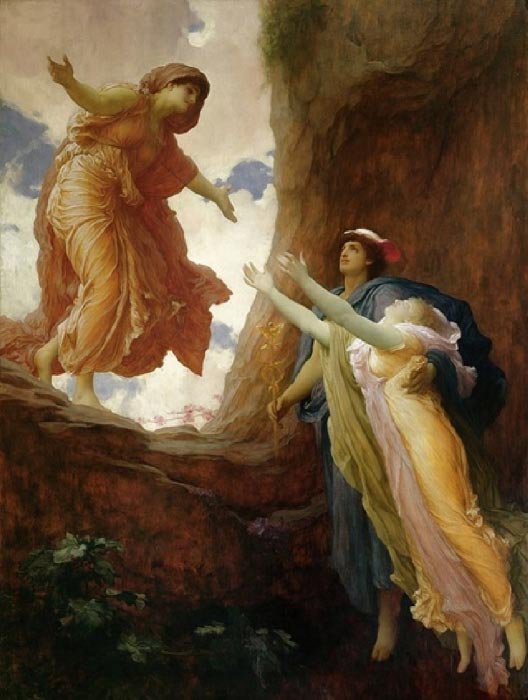 The return of Persephone, by Frederic Leighton (1891) (Public Domain)