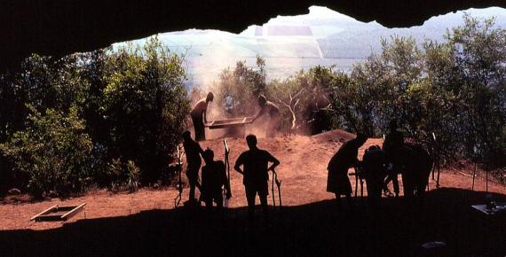 View over Swaziland from the mouth of Border Cave. (Public Domain)