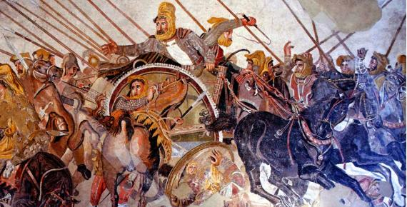 Another of Alexander's important battles - The battle of Issos between Alexander the Great and Darius of Persia.