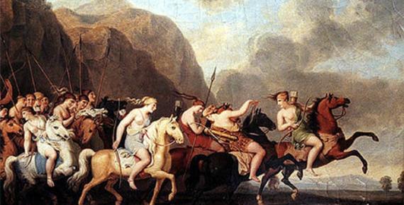Amazons by Johann Heinrich Wilhelm Tischbein (1820) (Public Domain)