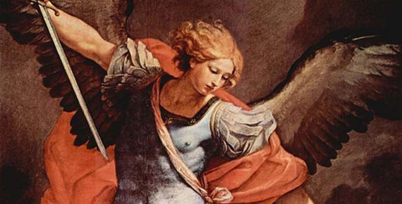 Guido Reni's archangel Michael (in the Capuchin church of Santa Maria della Concezione, Rome, 1636) tramples Satan.