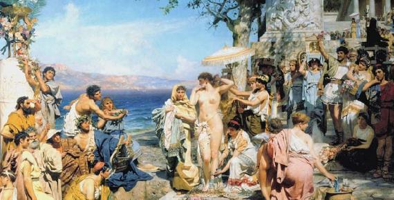 Fry in Eleusis, painting by Henryk Siemiradzki (1889).