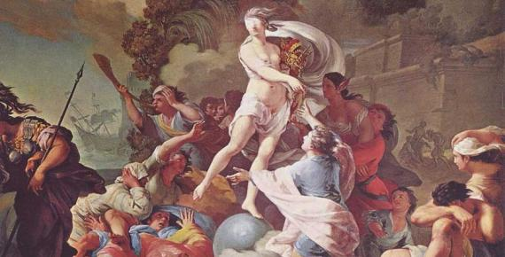 """Goddess of Luck"" Blind Fortuna by Tadeusz Kuntze (1754)"