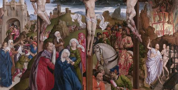 The Crucifixion by André d'Ypres / Dreux Budé Master, (before 1440) Getty Centre (Public Domain)