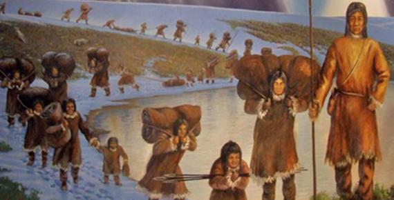 First Americans, photo of mural in the Page Museum, Los Angeles, by Travis S (CC BY-NC 2.0)