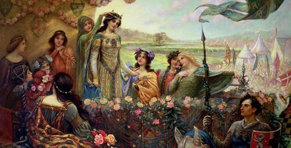 Lancelot and Guinevere by Herbert James Draper (c.1890) (Public Domain)