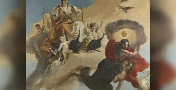 Hera and Luna by Giovanni Battista Tiepolo (1735 – 1745) Museum of Fine Arts Houston (Public Domain)
