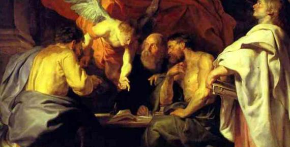 The four evangelists by Peter Paul Rubens. Sanssouci Picture Gallery. (1614) (Public Domain)
