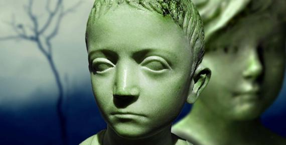 """Bust of a child"" first century AD (Public Domain), Antique bust of girl (Nerissa's Ring/CC BY 2.0) and On A Misty Morning (Vinoth Chandar/CC BY 2.0); Deriv"