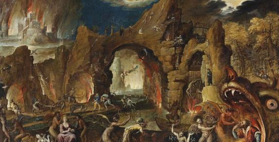 The Harrowing of Hell by Jacob van Swanenburgh  (1571–1638) (Public Domain)
