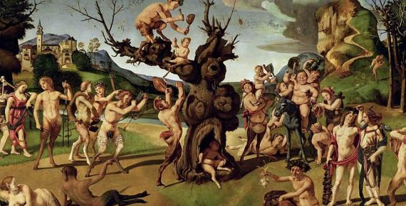 Bacchus discovering honey by Piero di Cosimo (1499) (Public Domain)