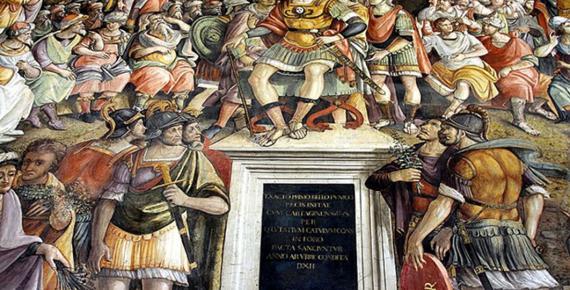 Peace between Hamilcar and Rome by Jacopo Ripanda. Musei Capitolini - Rome (José Luiz Bernardes Ribeiro / CC BY-SA 4.0)