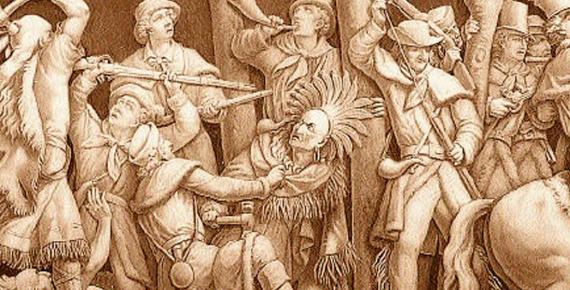 Death of Tecumseh, Frieze of the United States Capitol Rotunda (Public Domain)