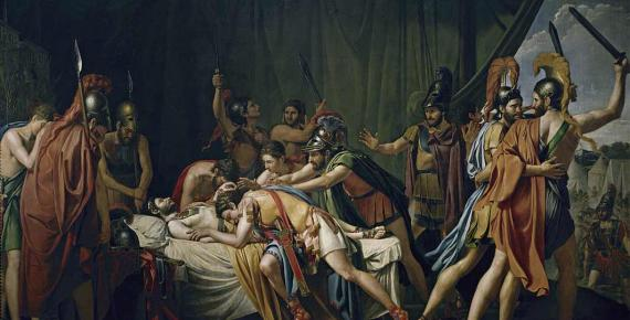 José de Madrazo's painting of the death of Viriathus