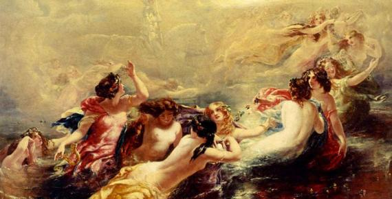 Sirens And The Night by William Edward Frost (1810–1877)