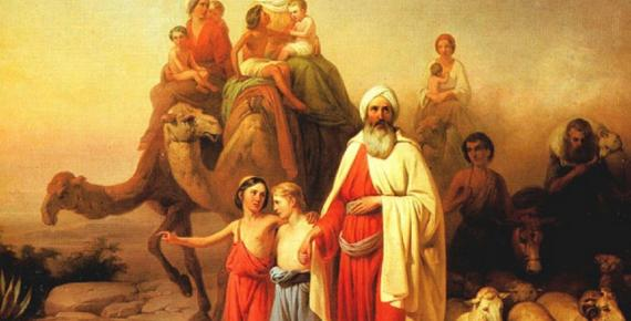 Abraham's Journey from Ur to Canaan by József Molnár (1850)
