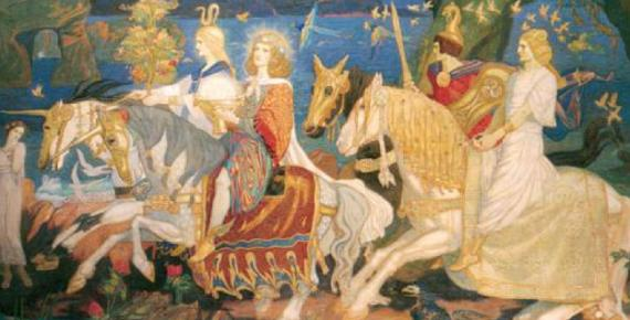 The Tuatha Dé Danann as depicted in John Duncan's