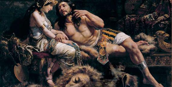 Samson and Delilah by Jose Etxenagusia (1887)