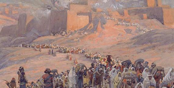 The Flight of the Prisoners; The exile of the Jews from Canaan to Babylon by James Tissot (1896) (Public Domain)