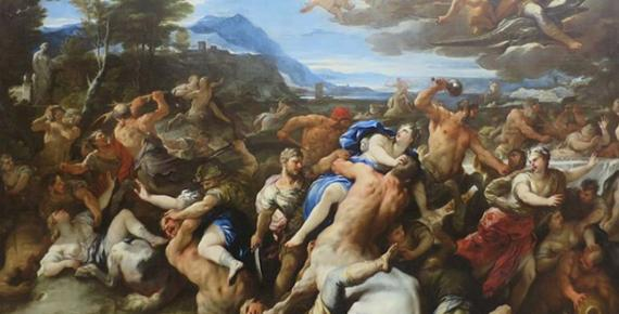 Battle of Lapiths and Centaurs' by Luca Giordano, The Hermitage (Public Domain)