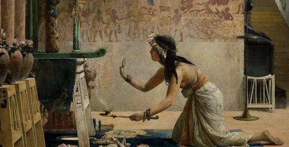 The Obsequies of an Egyptian Cat, John Reinhard Weguelin, 1886 ( Public Domain )