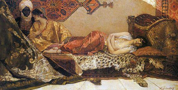 Odalisque by Jean-Joseph Benjamin-Constant (1882) (Public Domain)