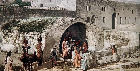 Nazareth and Mary's Well by Felix Bonfils, (1880) (Public Domain)