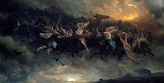 he Wild Hunt of Odin by Peter Nicolai Arbo (1872) (Public Domain)