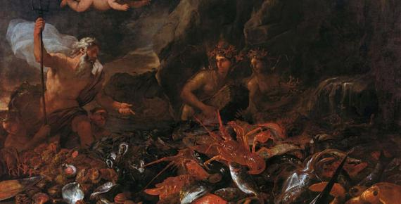 Top Image: The riches of the sea with Neptune, tritons and two nereids  by Luca GIORDANO Giuseppe RECCO (1684) Art Gallery of South Australia (Public Domain)