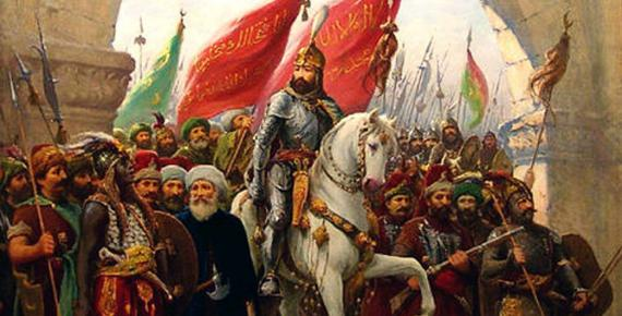 The entry of Sultan Mehmed II into Constantinople, painting by Fausto Zonaro