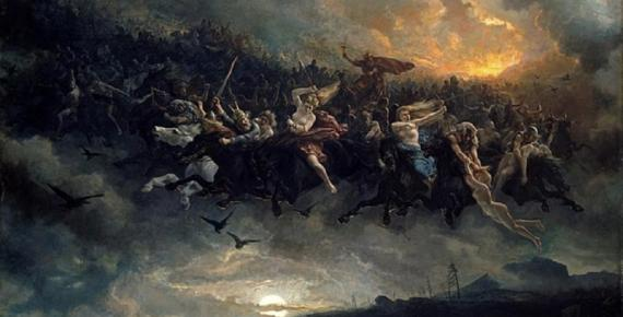The Wild Hunt of Odin by Peter Nicolai Arbo (1872) (Public Domain)