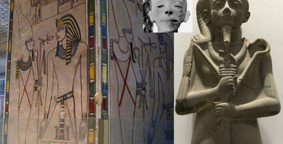 Collection of Egyptian Art, design by Anand Balaji (Photo credits: Richard Dick Sellicks, Dave Rudin, G. Elliot Smith/Wikimedia Commons); Deriv.