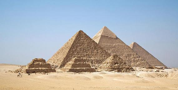 All Giza Pyramids in one shot.