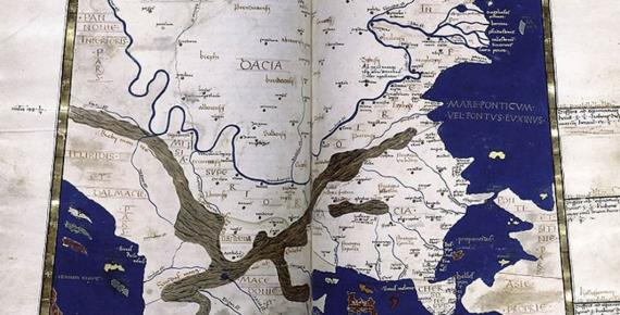 The 15th-century, ninth European Map (Nona Europae Tabula), depicting the Balkans, from a medieval edition of Ptolemy's Geography. (Public Domain)