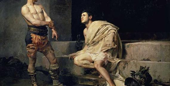 Gladiators after the fight, José Moreno Carbonero (1882) Museo del Prado.