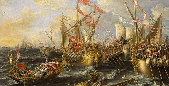 Castro Battle of Actium by Lorenzo Castro (1672) (Public Domain)