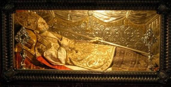 The body of Saint Alphonse Mary of Liguori, found to be incorrupt by the Catholic Church.