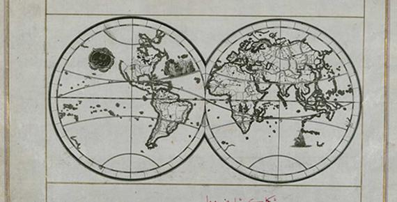 World Map in a Double Hemisphere Piri Reis  (circa 1467 – circa 1554 ) Walters Art Museum