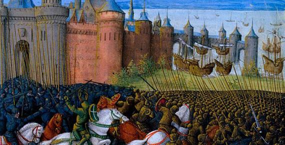 Siege of Tyre by Sébastien Mamerot (1493) (Public Domain)