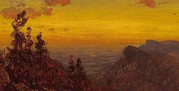 From the Shawangunk Mountains by S Gifford (1823 – 1880)